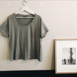 Topshop grey oversized T-shirt.